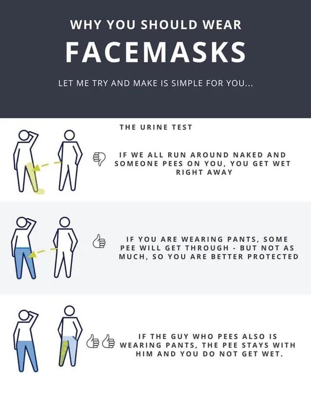r/CoronavirusMemes - Wear Your Mask: The Urine Test